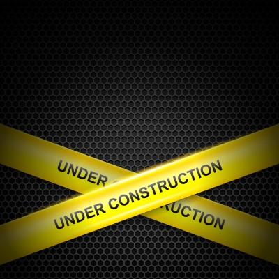 Bänder under construction